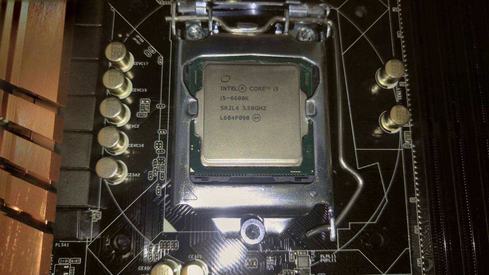 Photo of I5-6600k Processor