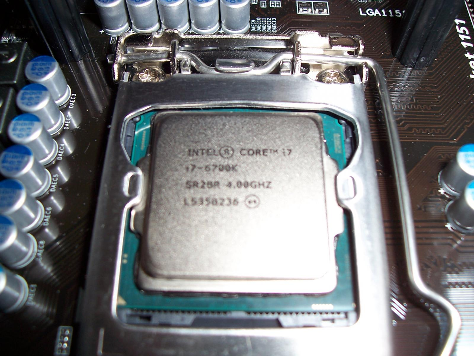 Photo of i7-6700k silicon lottery delidded 4.6GHz stable