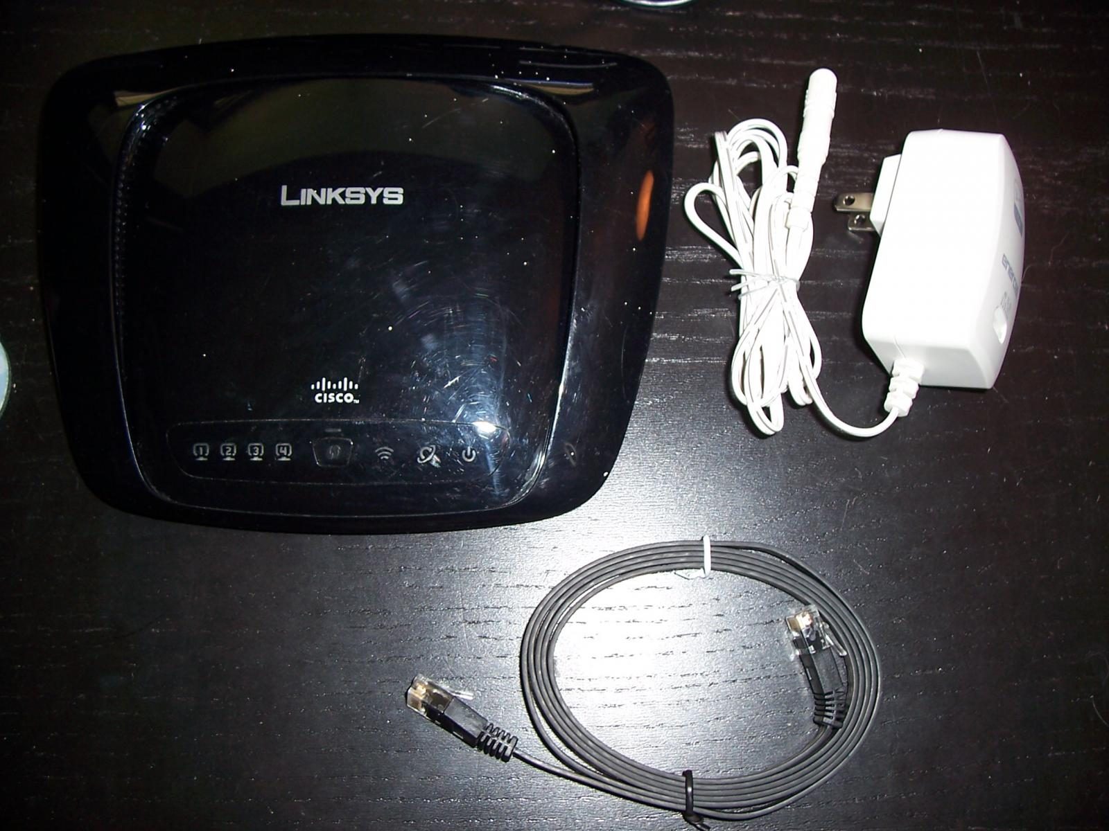 Photo of Linksys WRT160N wifi router 802.11n 2.4GHz