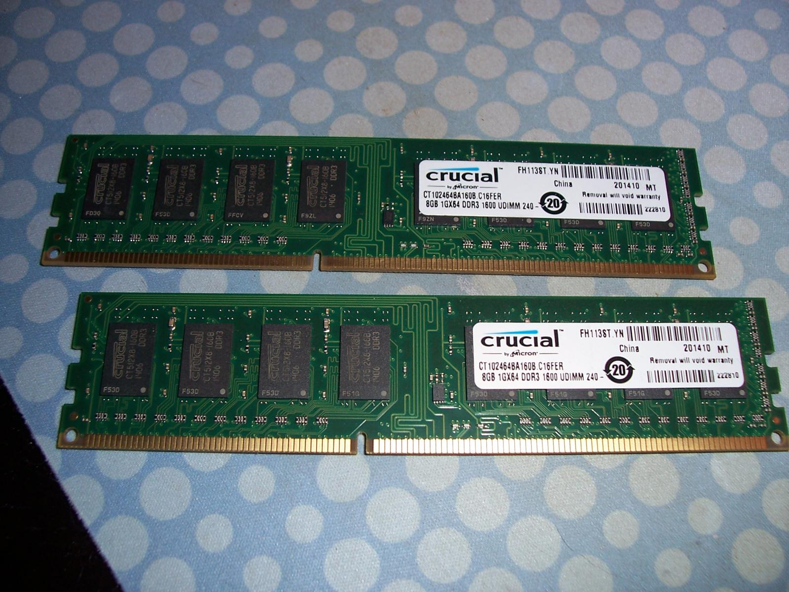 Photo of Crucial 16GB (2x8GB) DDR3-1600 kit (multiple available)