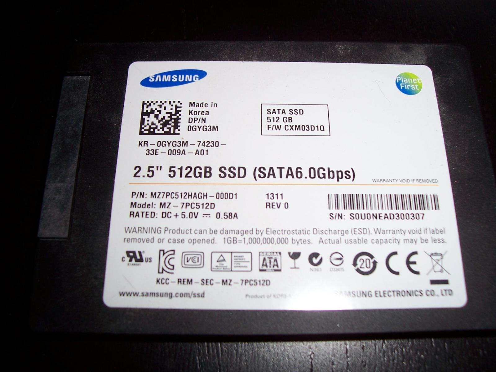 Photo of 512GB Samsung PM830 2.5 SATA SSD