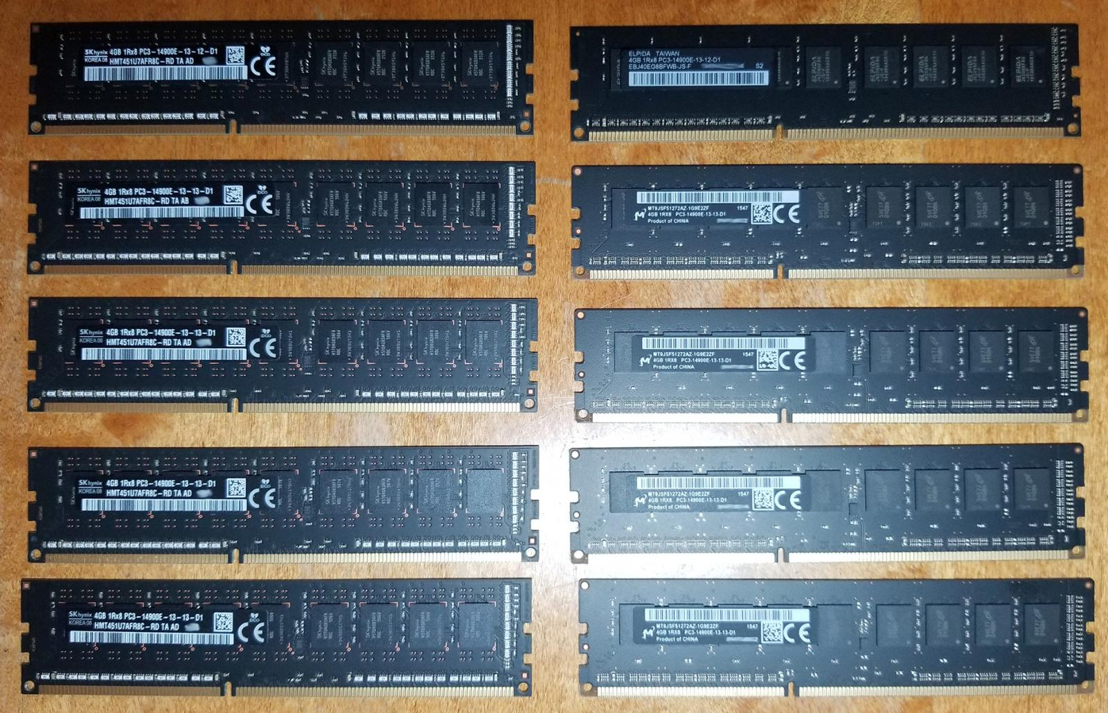 Photo of 16GB OEM ram kits (4x 4GB) 1866Mhz DDR3 ECC unbuffered (2 remain)