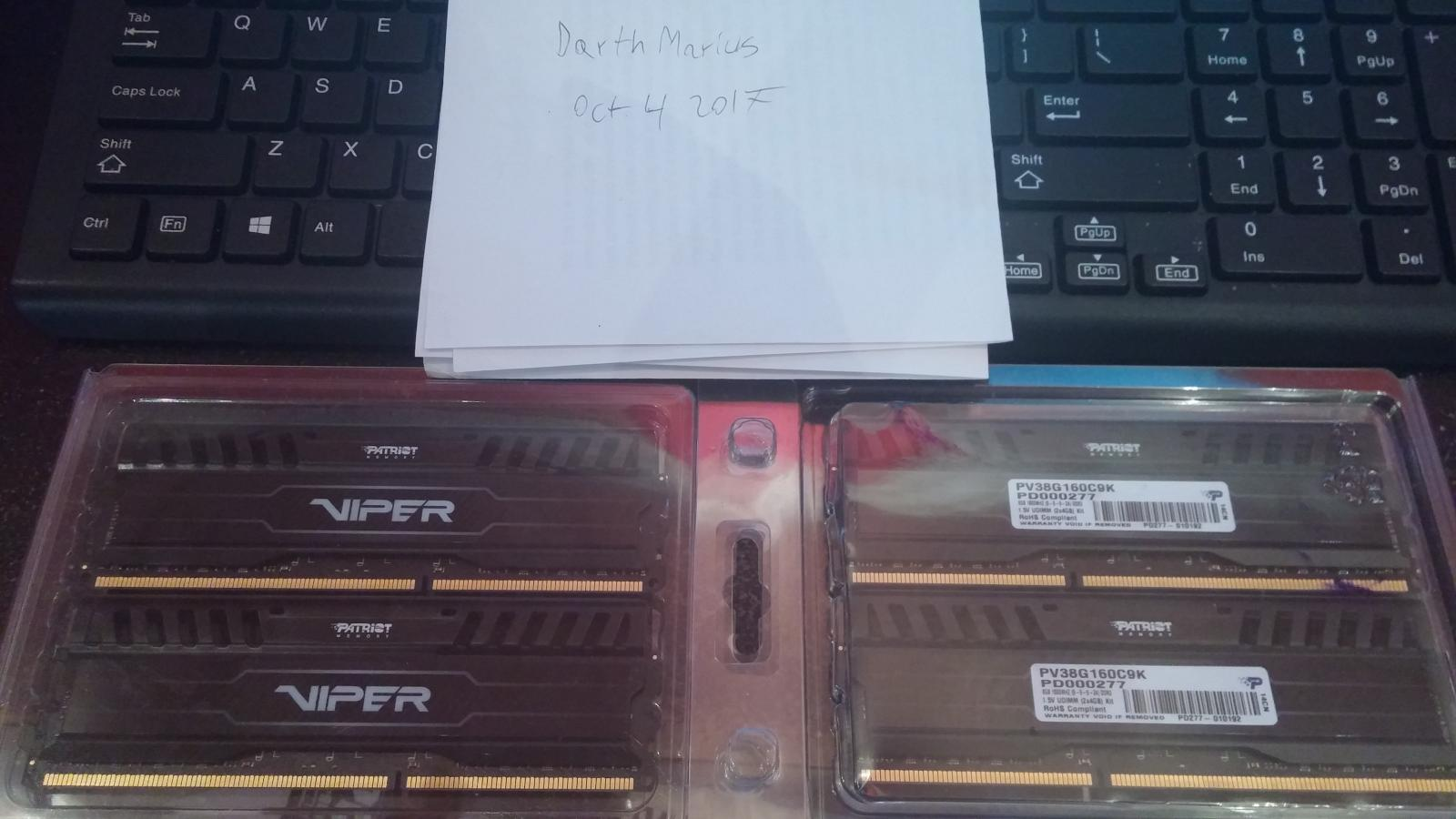 Photo of Patriot Viper 16gb DDR3 1600mhz 4x 4gb