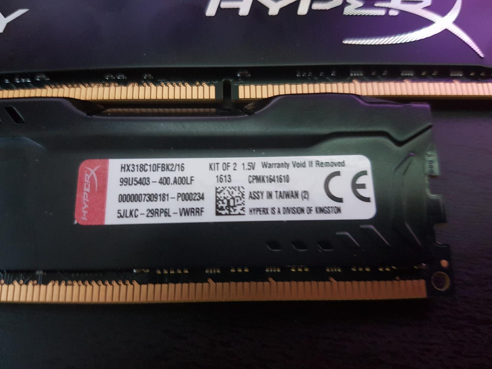 Photo of 32GB (4 x 8GB) HyperX Fury 240 pin DDR3 SDRAM 1866