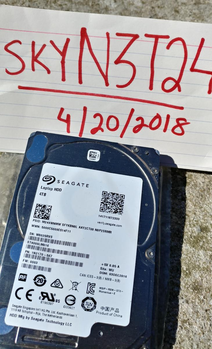 Photo of Seagate 4TB Laptop 2.5