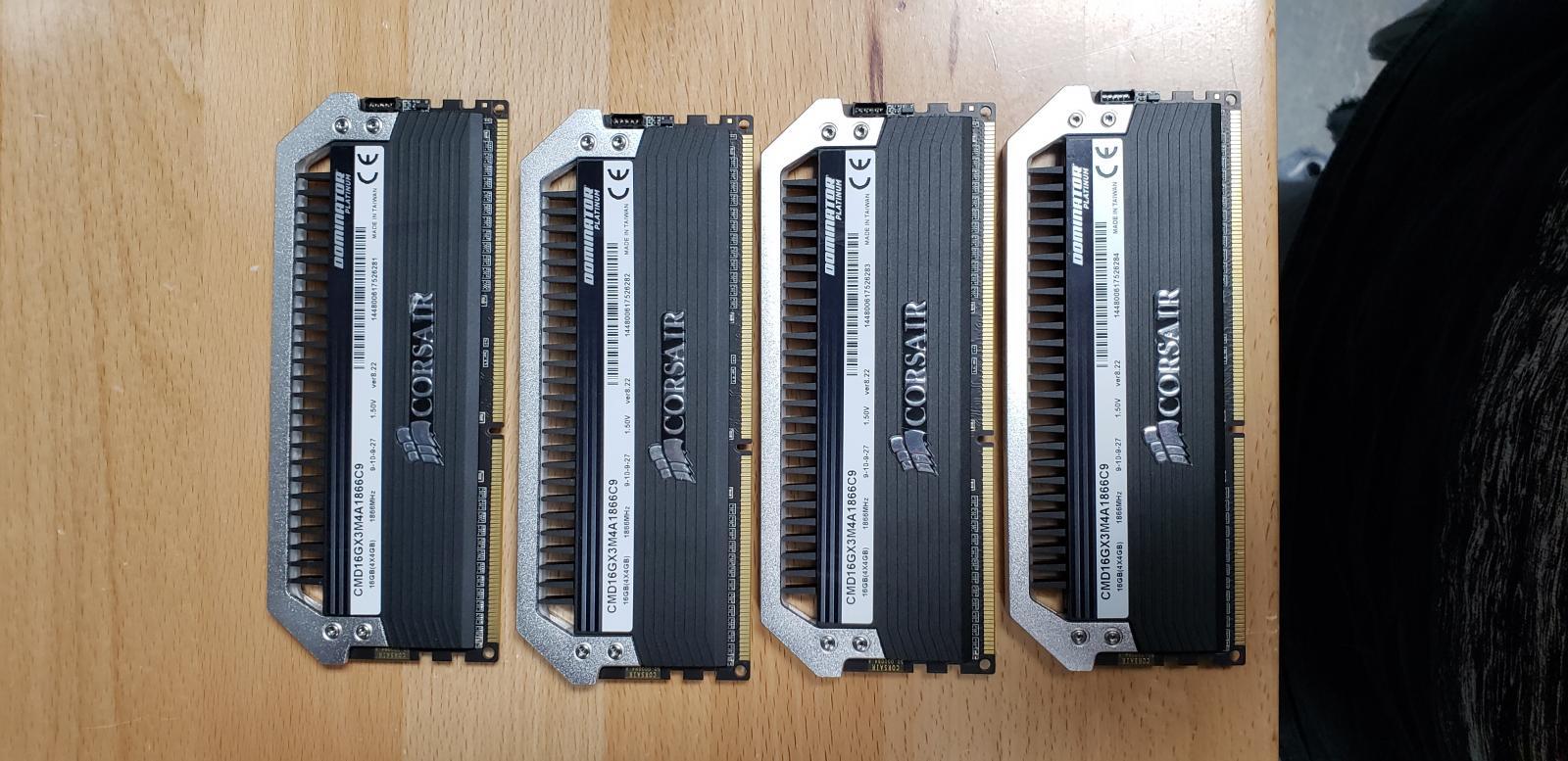 Photo of DOMINATOR® PLATINUM — 16GB (4 x 4GB) DDR3 DRAM 1866MHz C9 Memory Kit