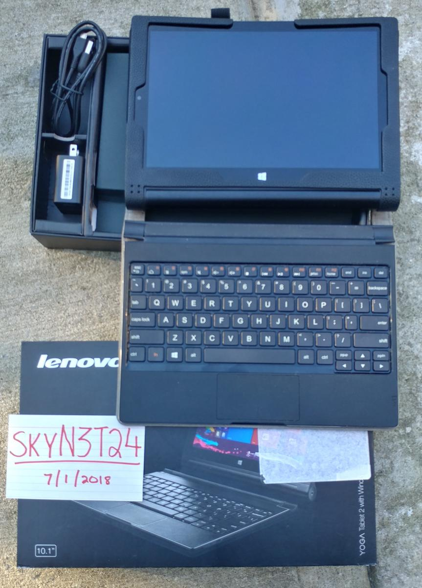 Photo of Lenovo Yoga 2, Aluminum Win10 1200p IPS 10.1 Tablet w/Keyboard.Used-excellent.