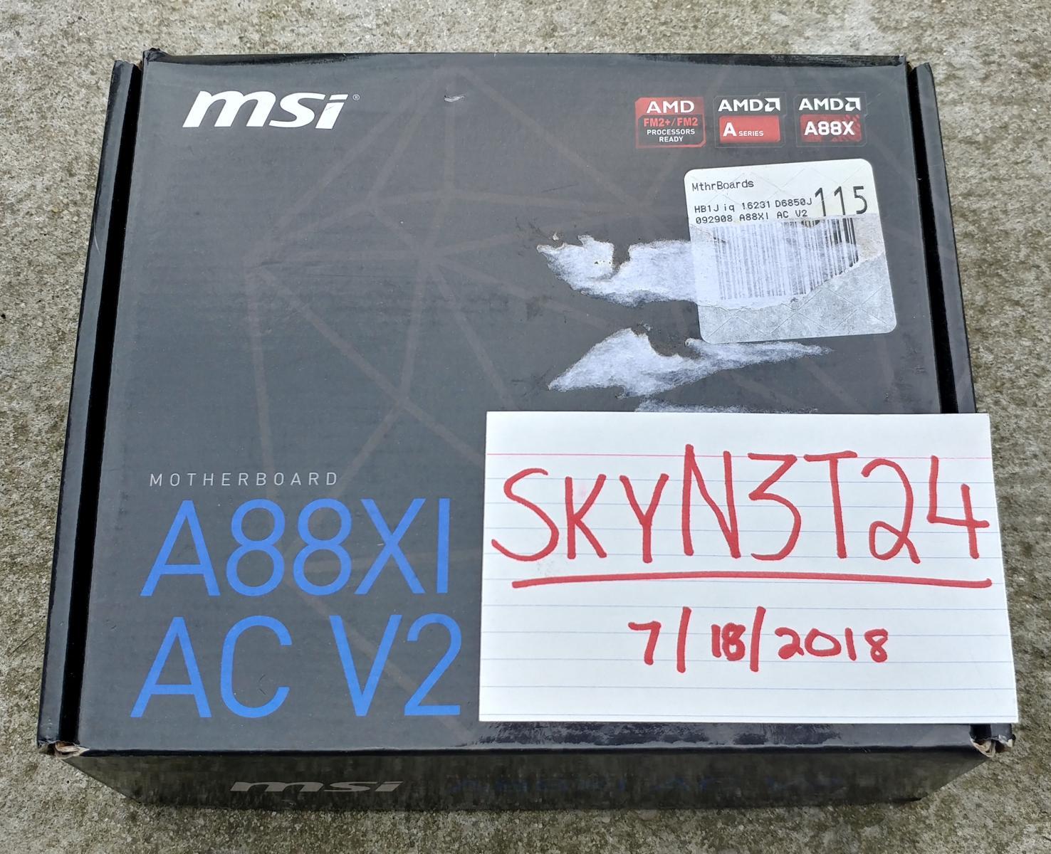Photo of MSI A88Xi AC v2 FM2+ Mini-ITX Motherboard.NEW!