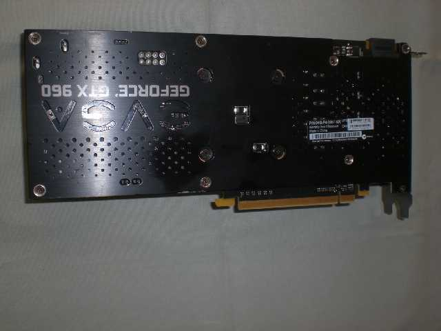 Photo of EVGA GeForce GTX960 4GB SSC Graphic Card w/Backplate