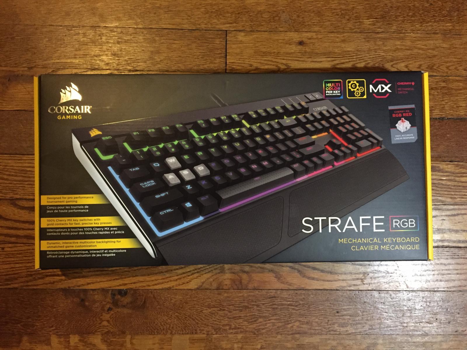 Photo of Corsair Strafe Mechanical RGB LED Backlit Gaming Keyboard Cherry MX Red New