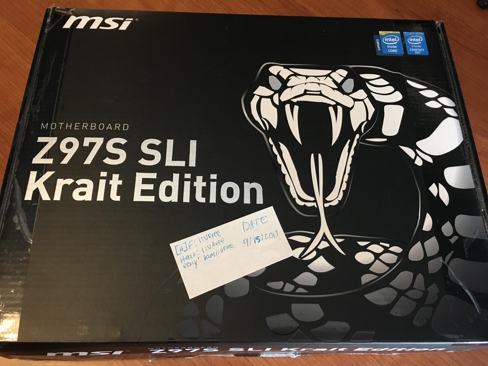 Photo of MSI Z97S SLI Krait Edition Motherboard w/ Original Box & Accs