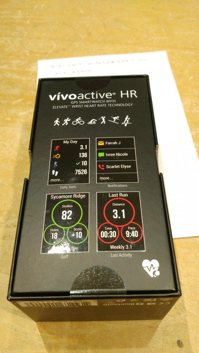 Photo of Garmin vivoactive HR GPS smartwatch