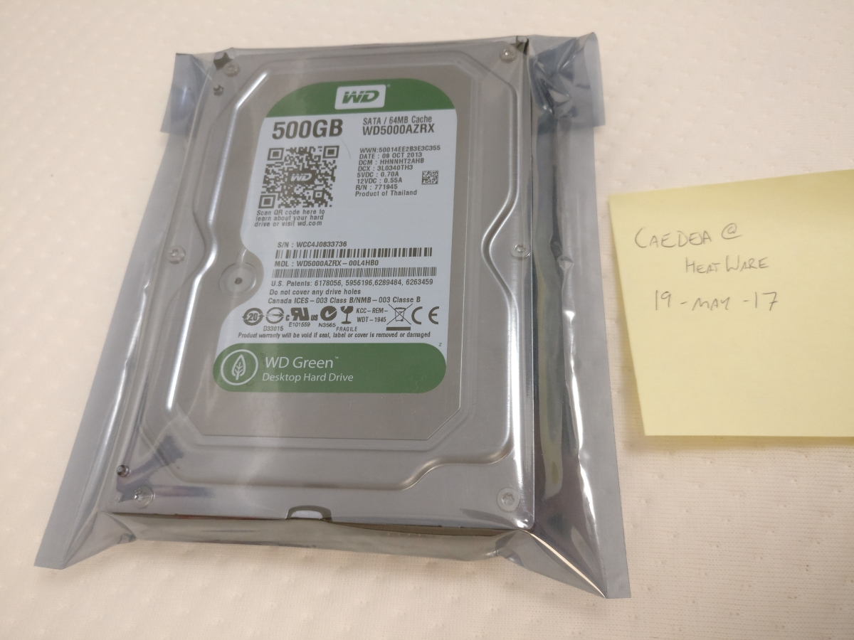 Photo of Western Digital Green 500GB WD5000AZRX