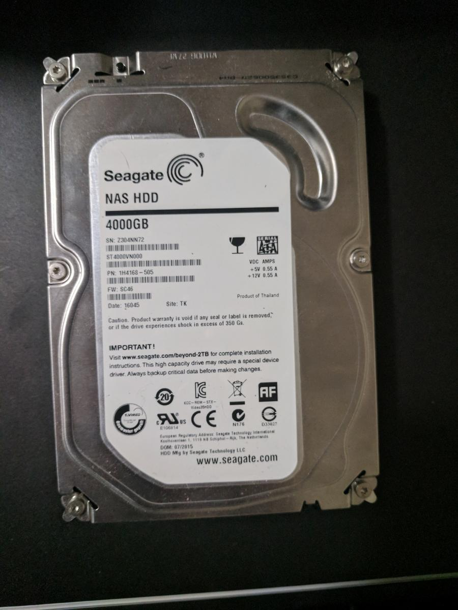 Photo of 4TB NAS Hard Disk Drive