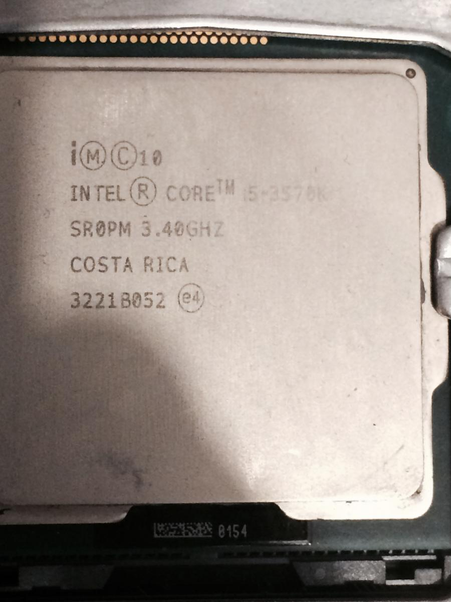 Photo of Intel Core i5 3570k LGA 1155 Socket