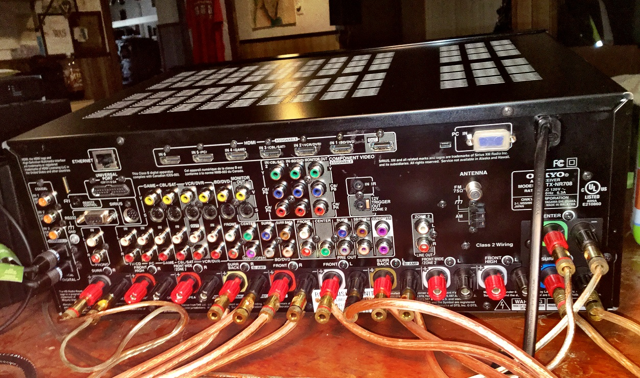 Photo of Onkyo TX-NR708 THX 7.2 Home Theater Receiver - LOADED