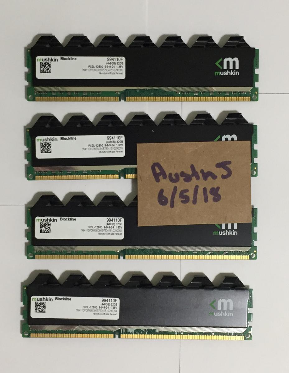 Photo of Mushkin Blackline DDR3L 4x8GB