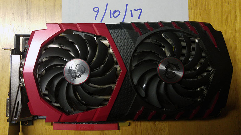Photo of MSI Radeon RX 480 GamingX 8G