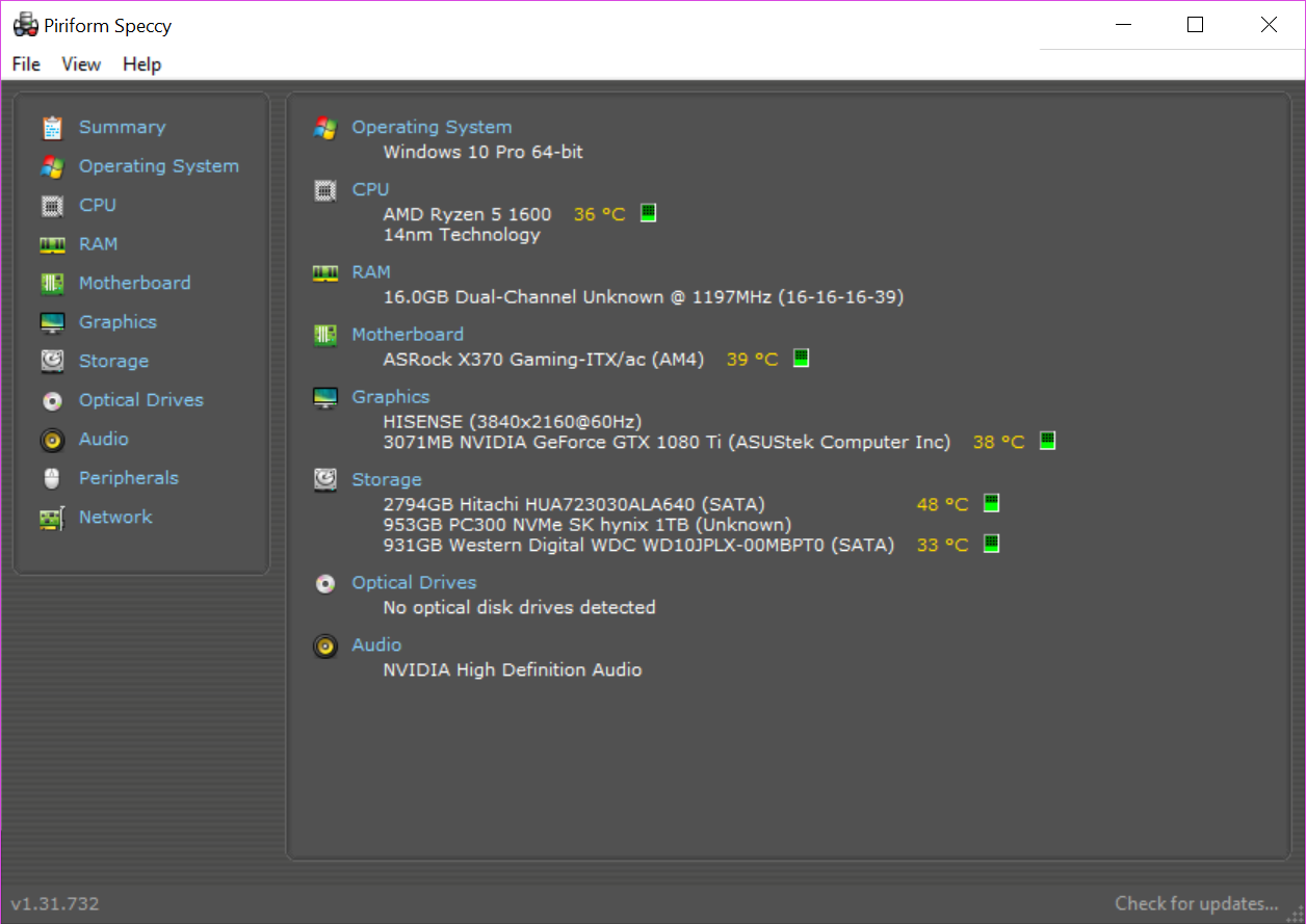 Photo of r5 1600 // 16GB DDR4-2666 // 3TB HDD // 1TB NVME // 1080 TI