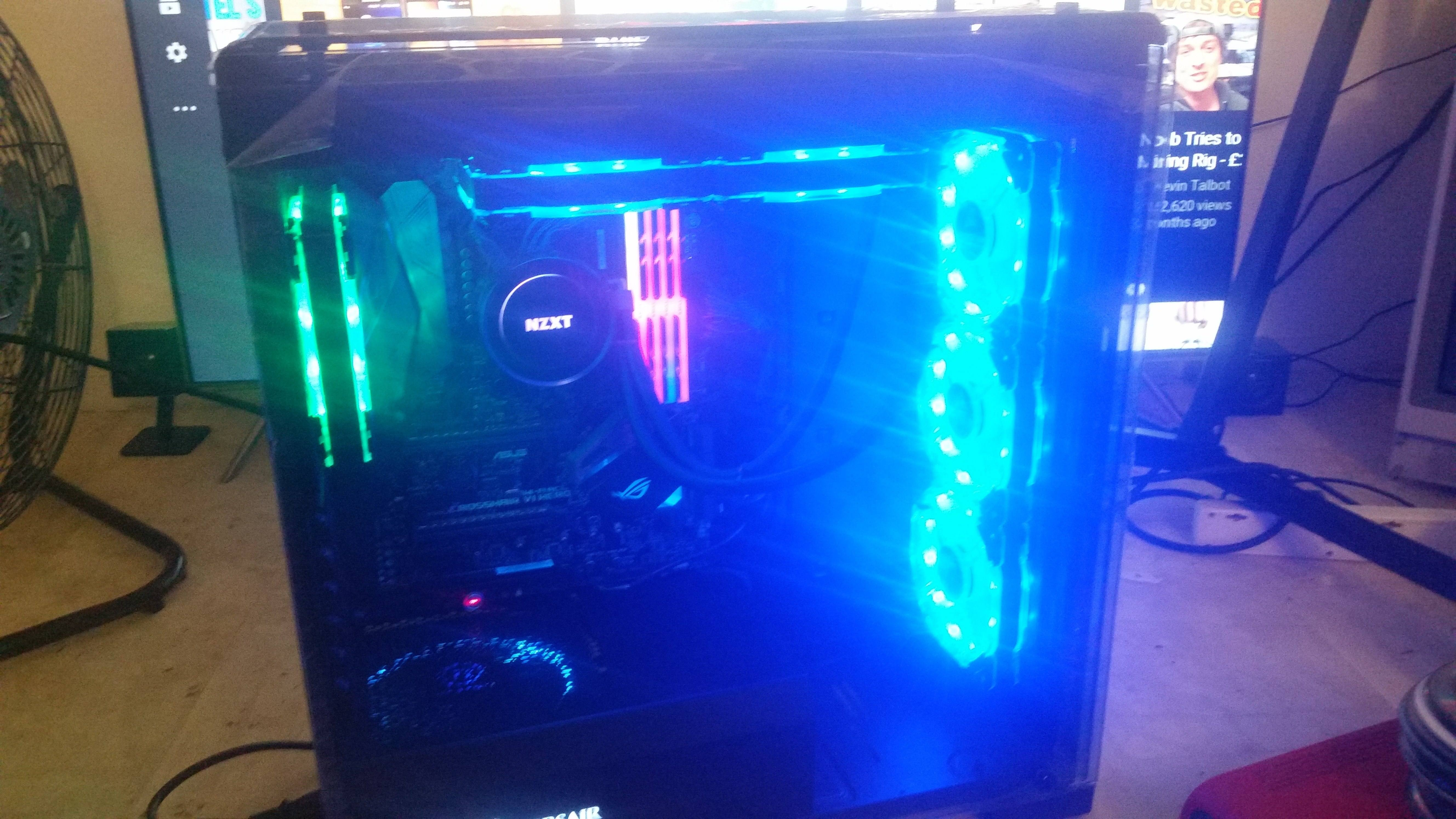 nearly finished high end gaming pc for sale. Black Bedroom Furniture Sets. Home Design Ideas
