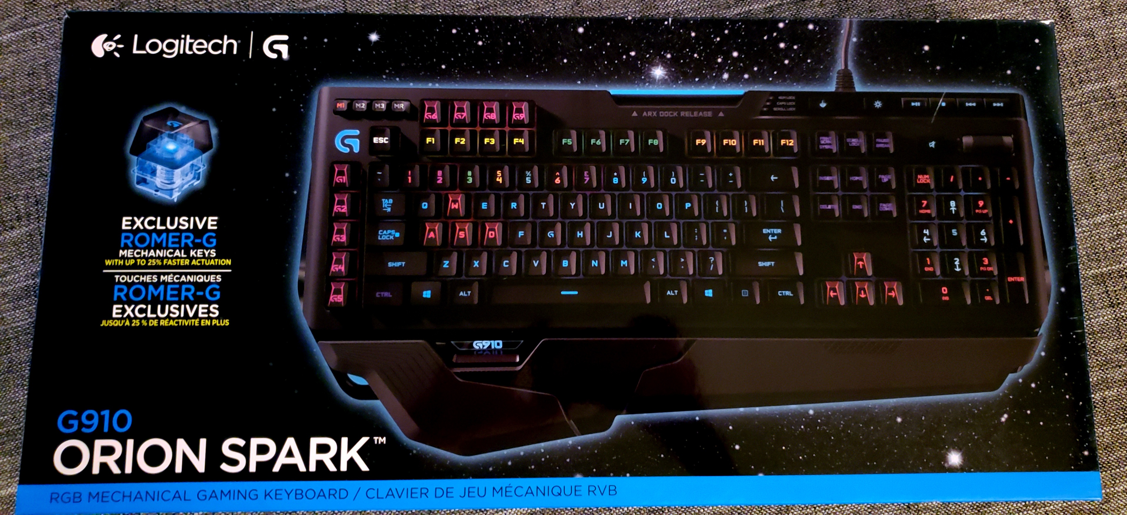 Logitech G910 Orion Spark RGB mechanical keyboard For Sale