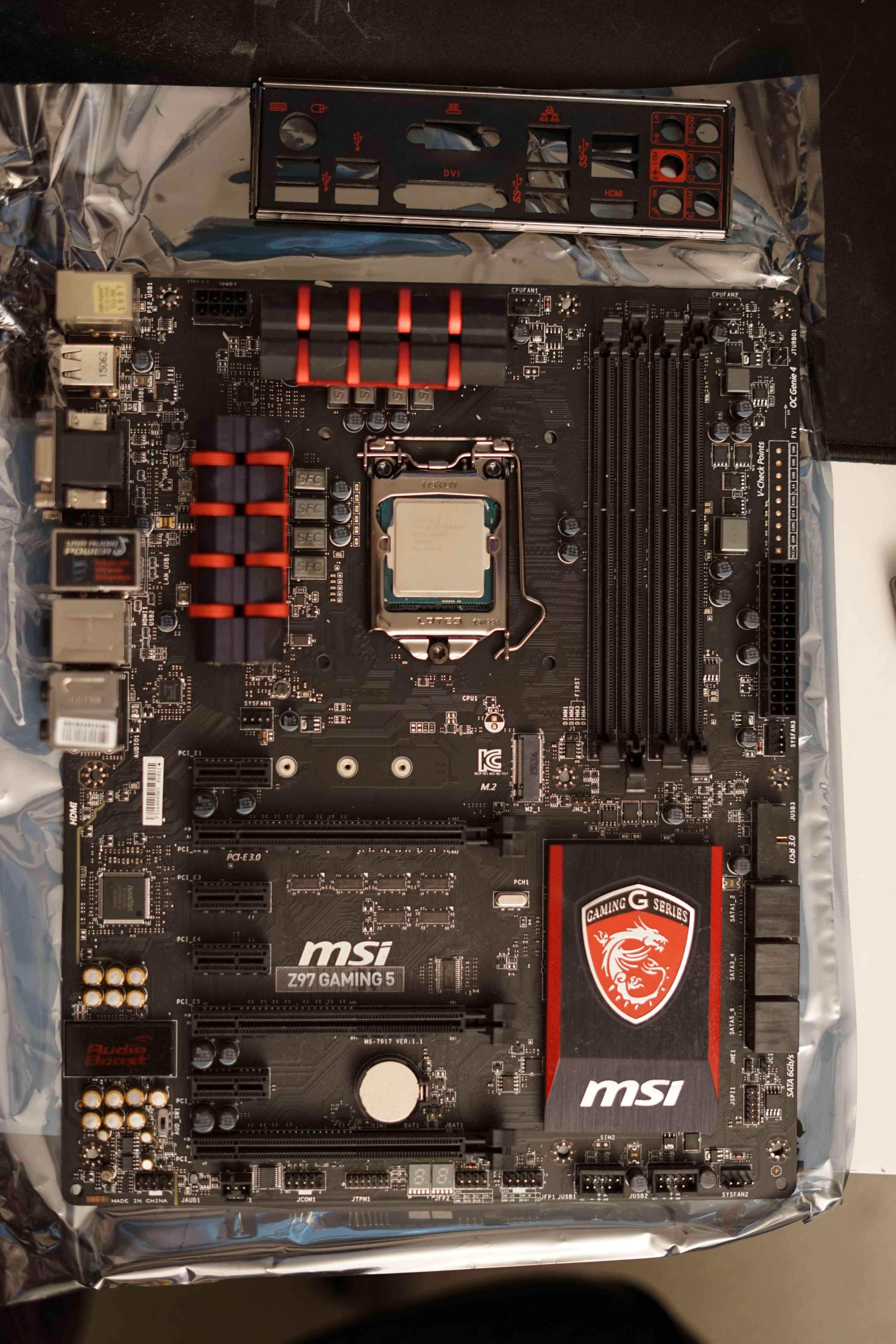 i5 4690k+MSI Z97 Gaming 5+ Corsair Vengeance 2x8gb 1600 mhz