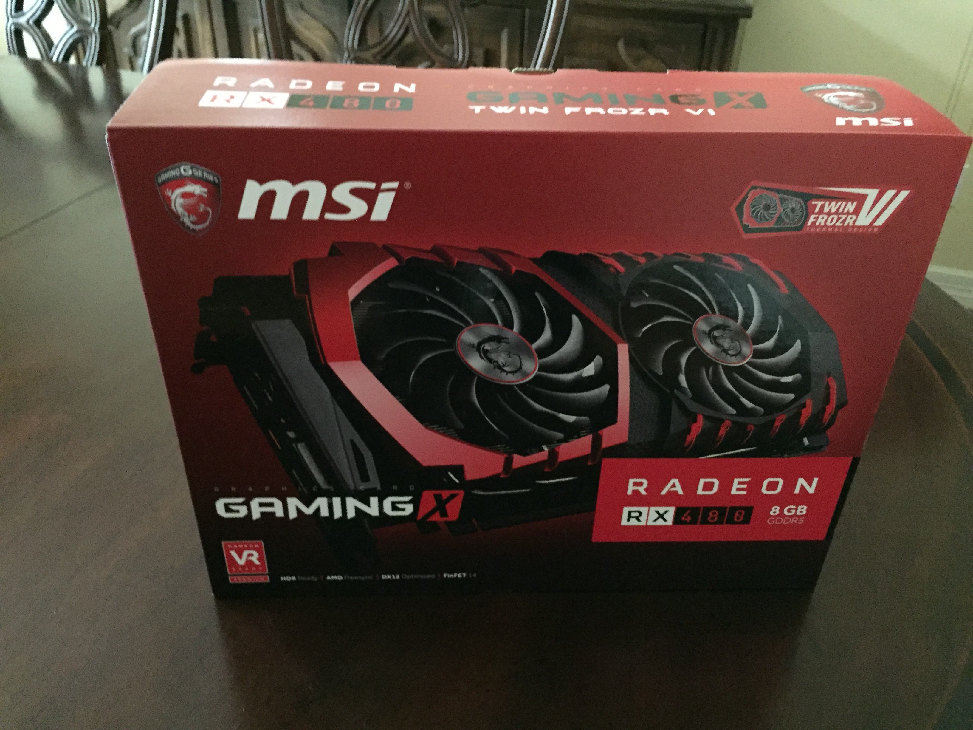 MSI Radeon RX 480 DirectX 12 RX 480 GAMING X 8G For Sale