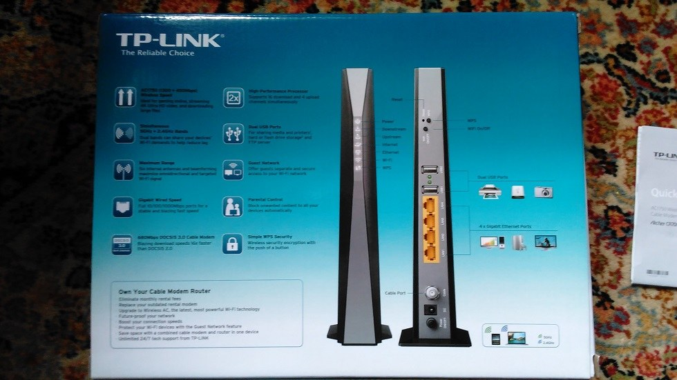 Tp Link Archer Cr700 Cable Modem Amp Router For Sale