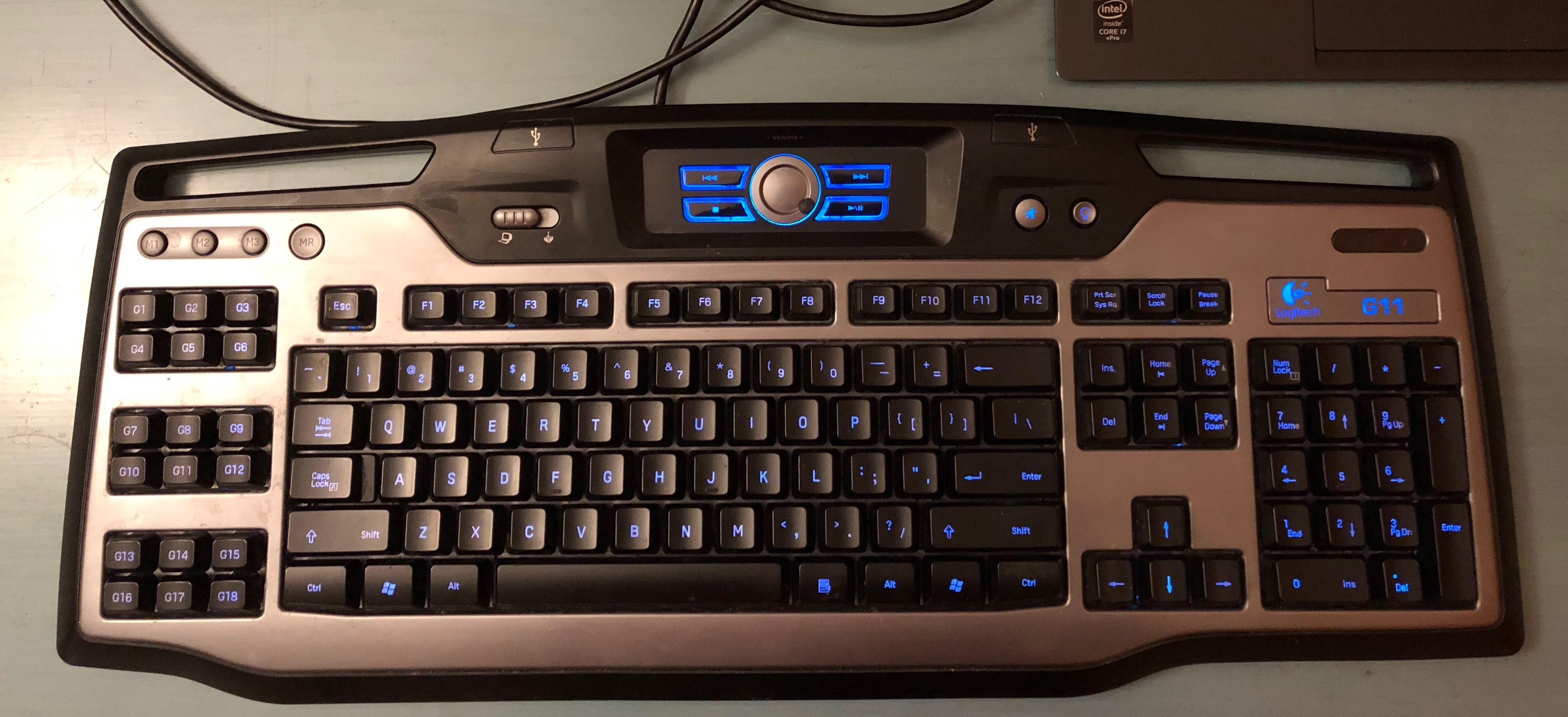 Logitech G11 Backlit Gaming Keyboard For Sale Heatware Com