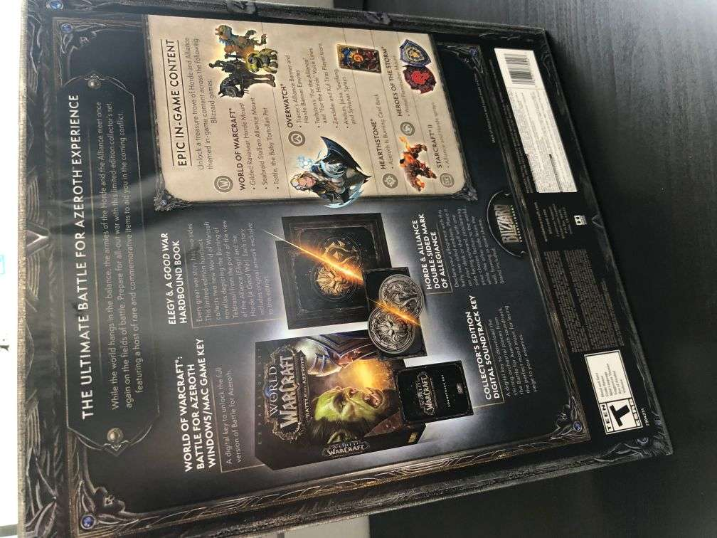 World of Warcraft Battle for Azeroth Collectors Edition For