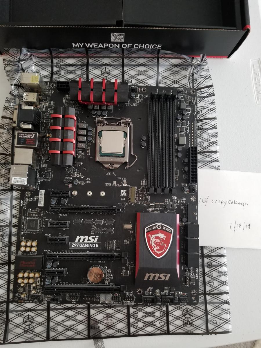 Photo of Delidded 4790k, 16GB DDR3 Ram, MSI Z97 Gaming 5 Motherboard