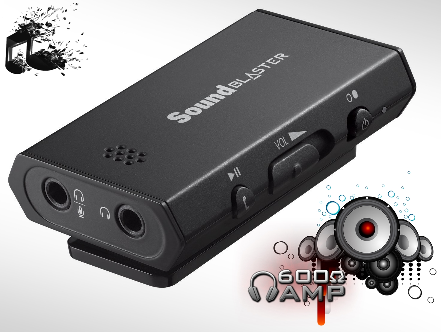 Photo of Sound Blaster E1 Portable USB Headphone AMP.New!