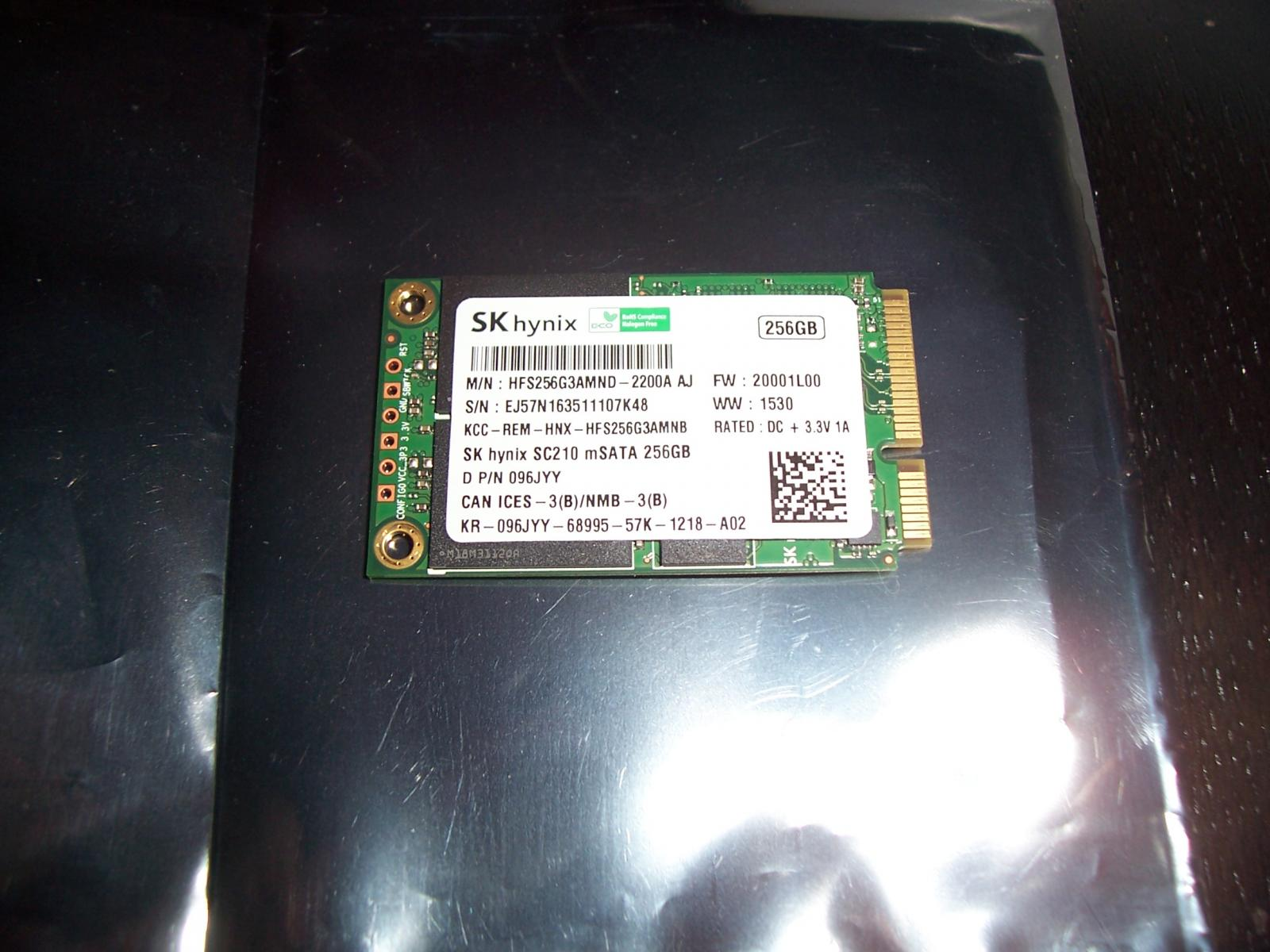Photo of 256GB Hynix SC210 mSATA SSD