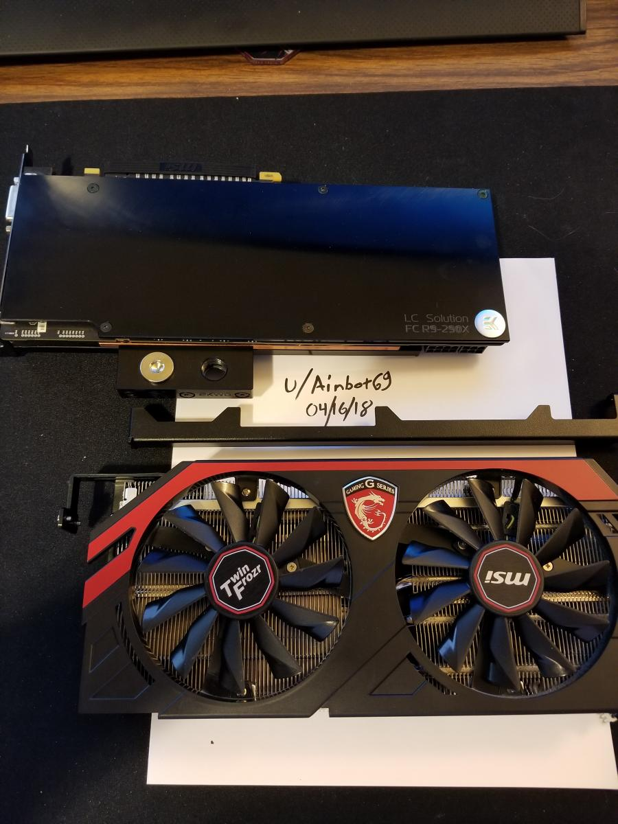 Photo of MSI Radeon R9 290x Gaming 4G w/EKWB