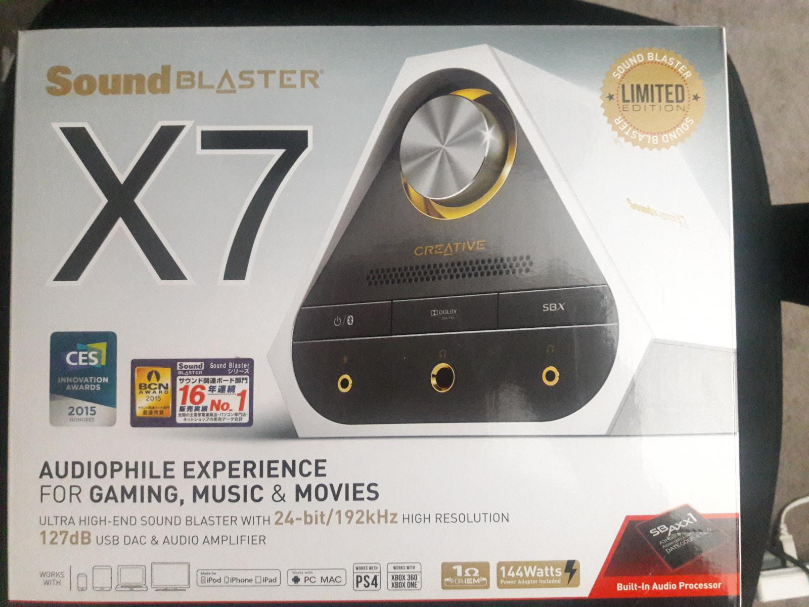 Photo of Creative Sound Blaster X7 Limited Edition USB DAC/AMP