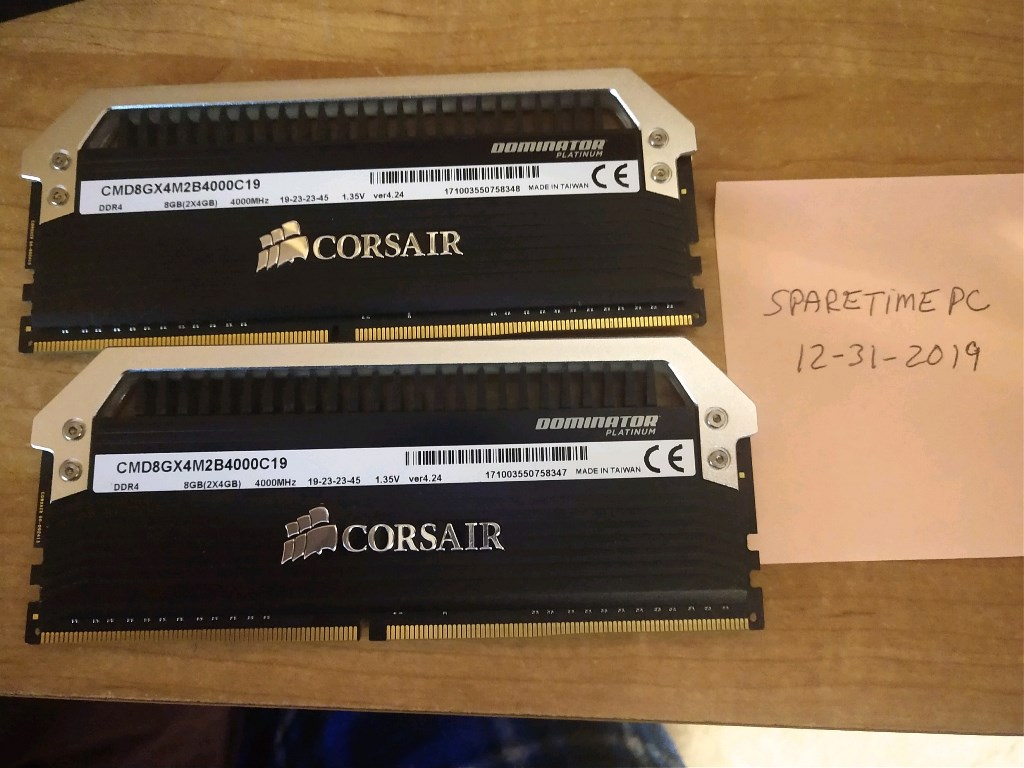 Photo of 8GB Corsair DDR4 4000MHz Ram and Memory Cooler