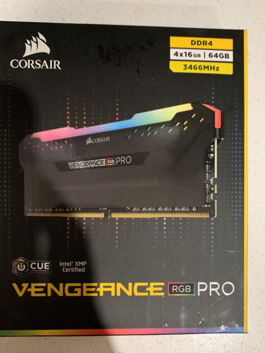 Photo of CORSAIR Vengeance RGB Pro 64GB CMW64GX4M4C3466C16