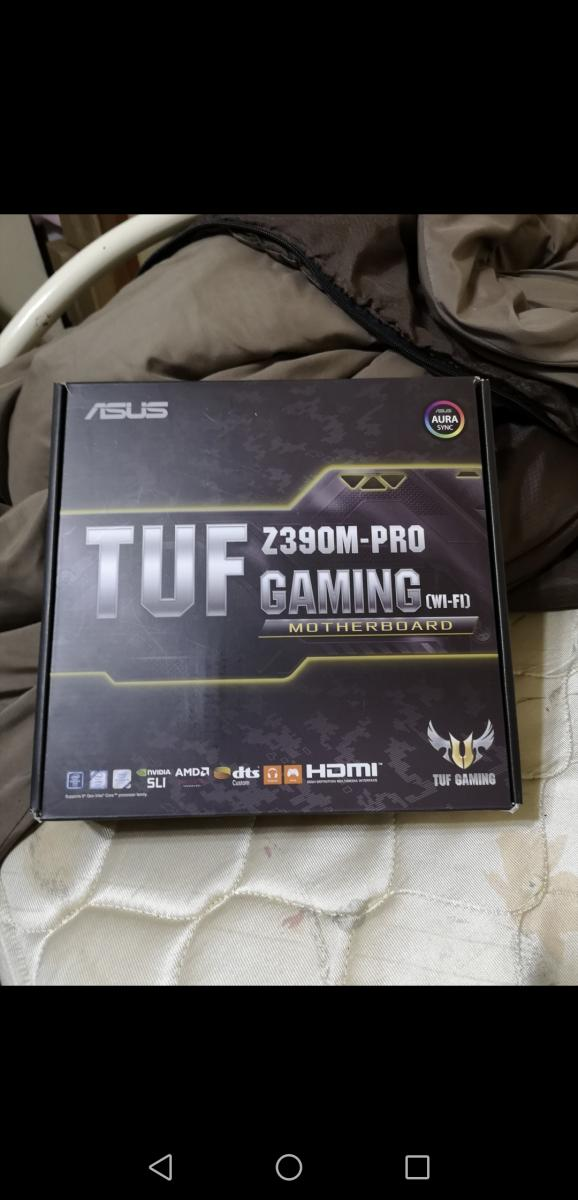 Photo of New Unopened Asus TUF Z390M-PRO GAMING MOTHERBOARD