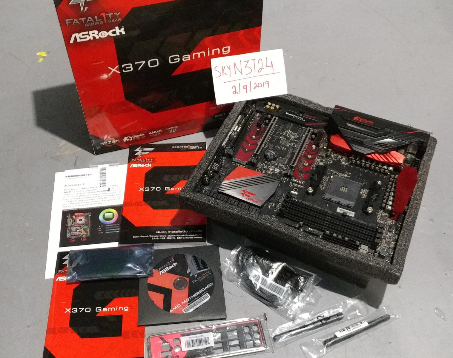 Photo of ASRock Fatal1ty X370 Professional Ryzen AM4 Motherboard.NEW!