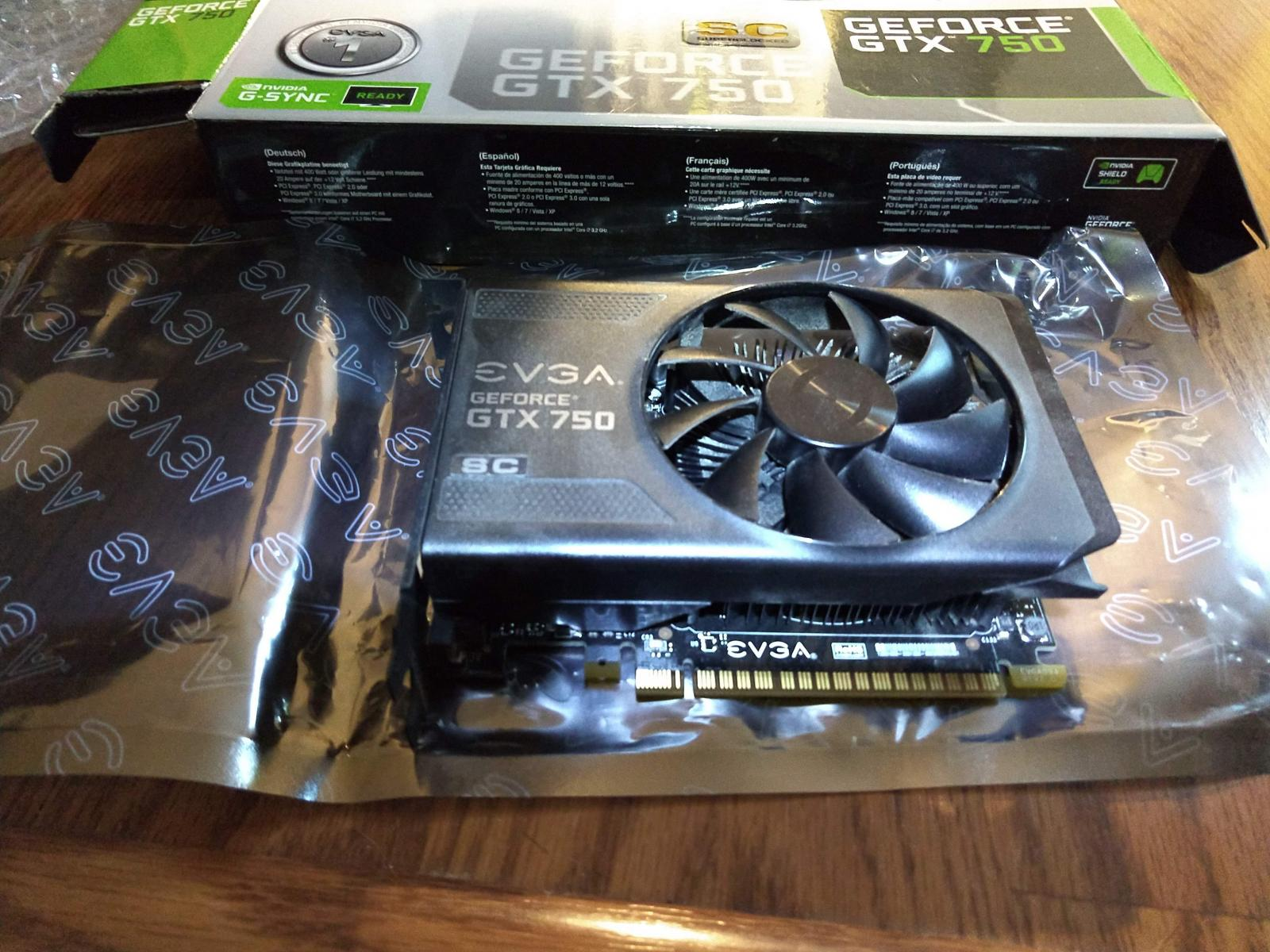 Photo of Used EVGA 01G-P4-2751-KR G-SYNC Support GeForce GTX 750 1GB