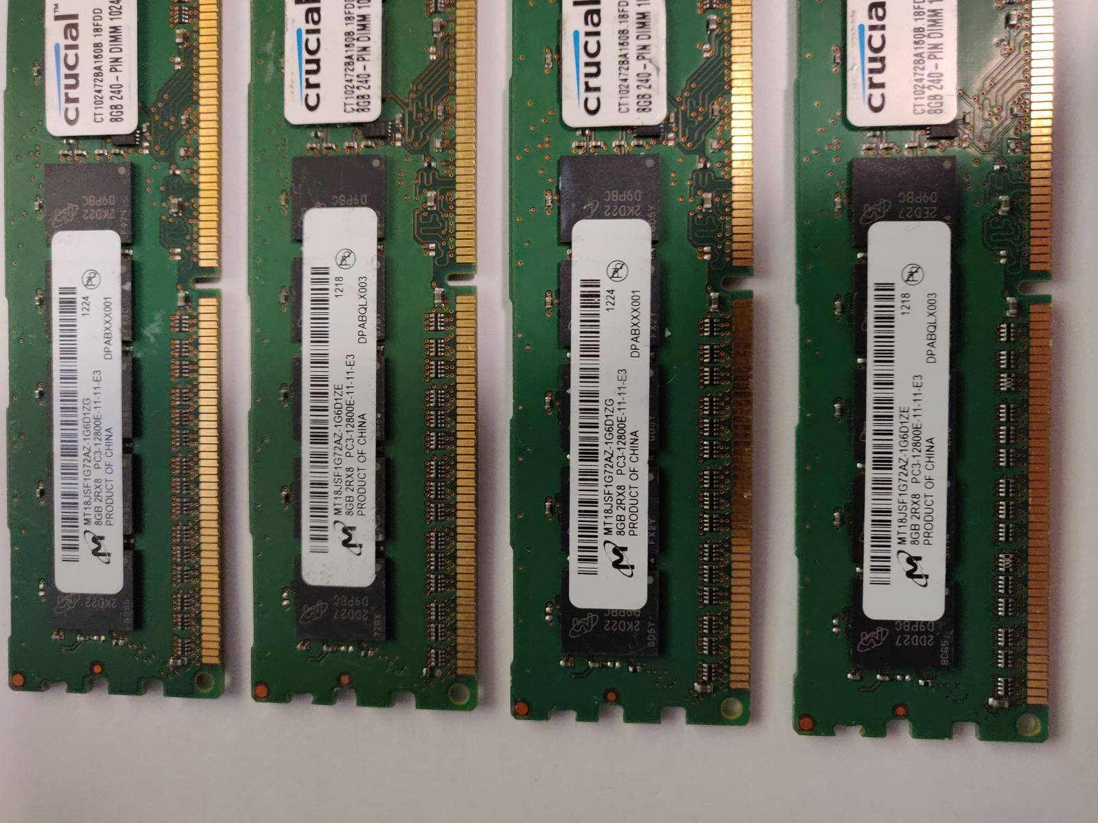 Photo of 16GB (4X4GB) DDR3 ECC workstation memory