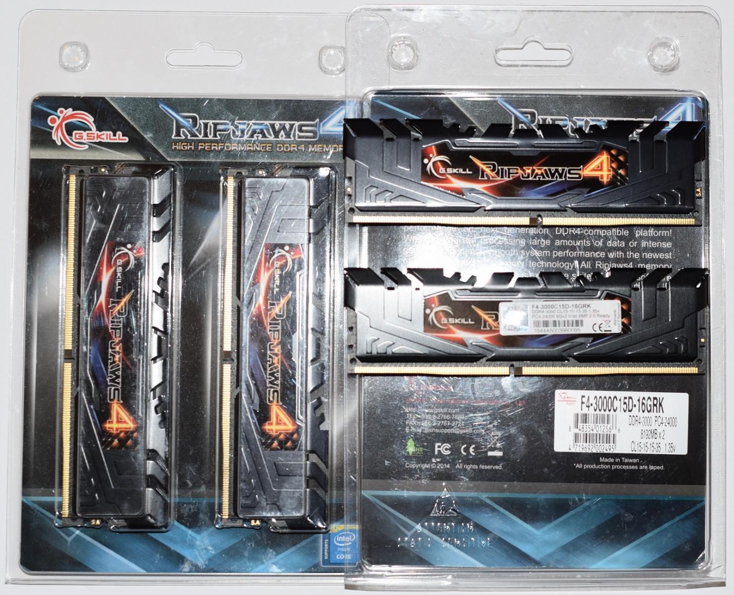 Photo of G.Skill 4x8GB Ripjaws 4 DDR4-3000 RAM
