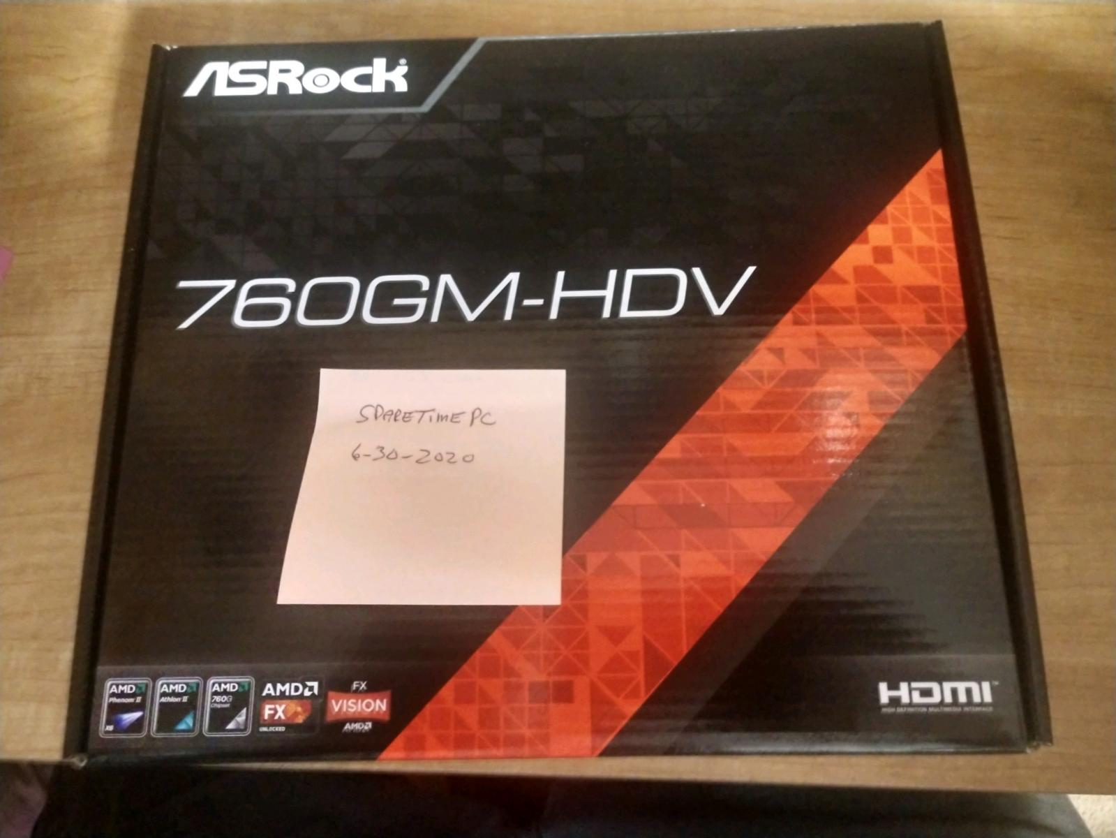 Photo of Asrock 760GM-HDV Motherboard, 16GB 1866MHz DDR3 Nemix Ram, AMD FX 4350 Unlocked