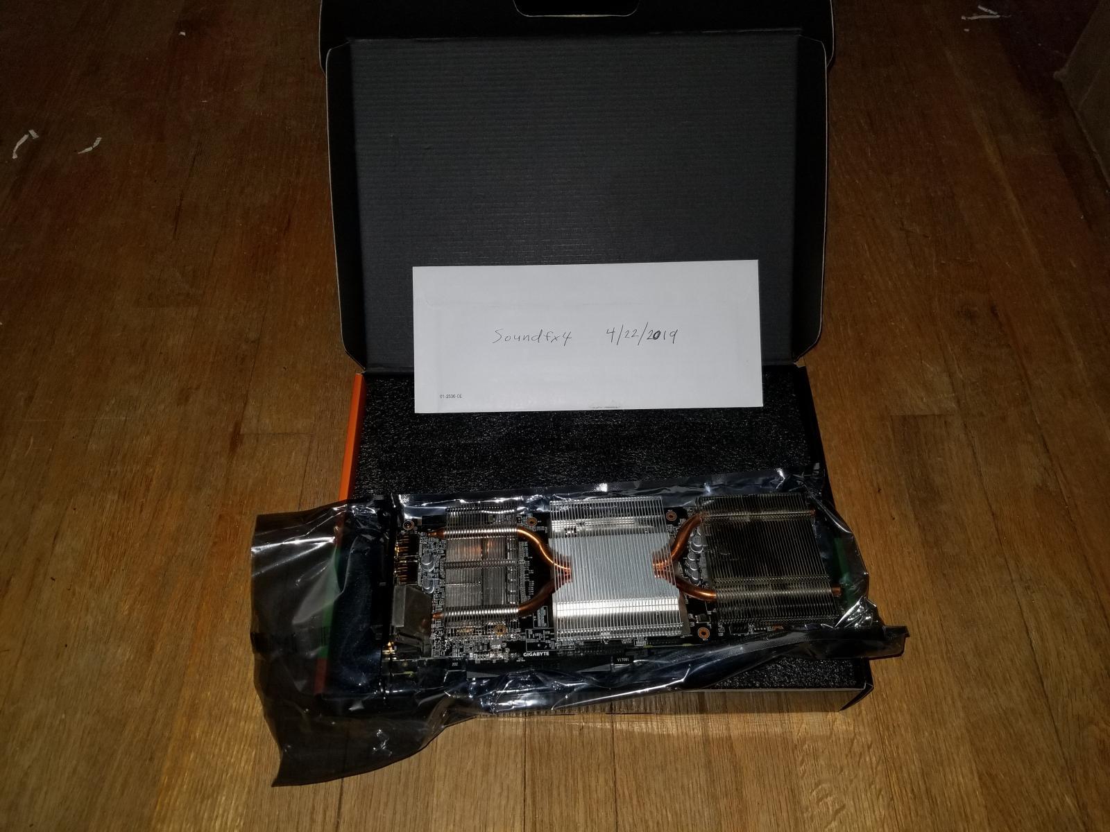 Photo of Gigabyte Geforce GTX 1070 Windforce OC edition NO FANS!