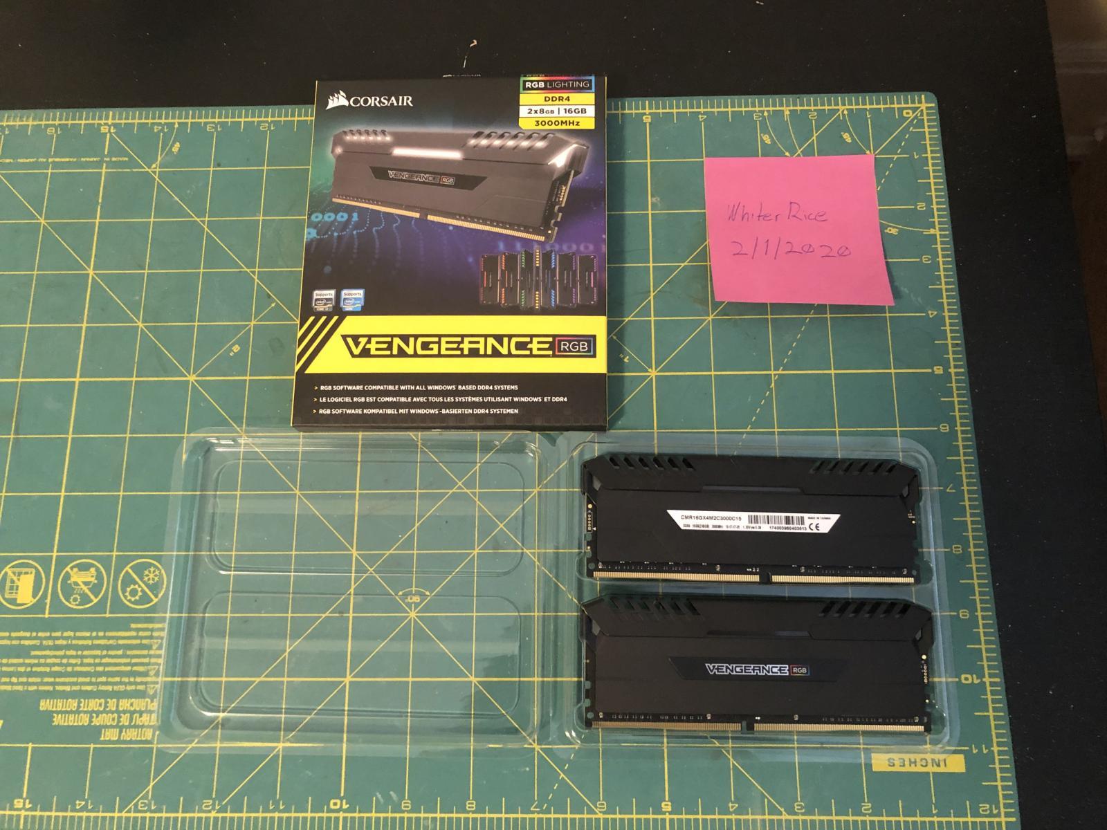 Photo of Used VENGEANCE® RGB 16GB (2 x 8GB) DDR4 DRAM 3000MHz C15 Memory Kit