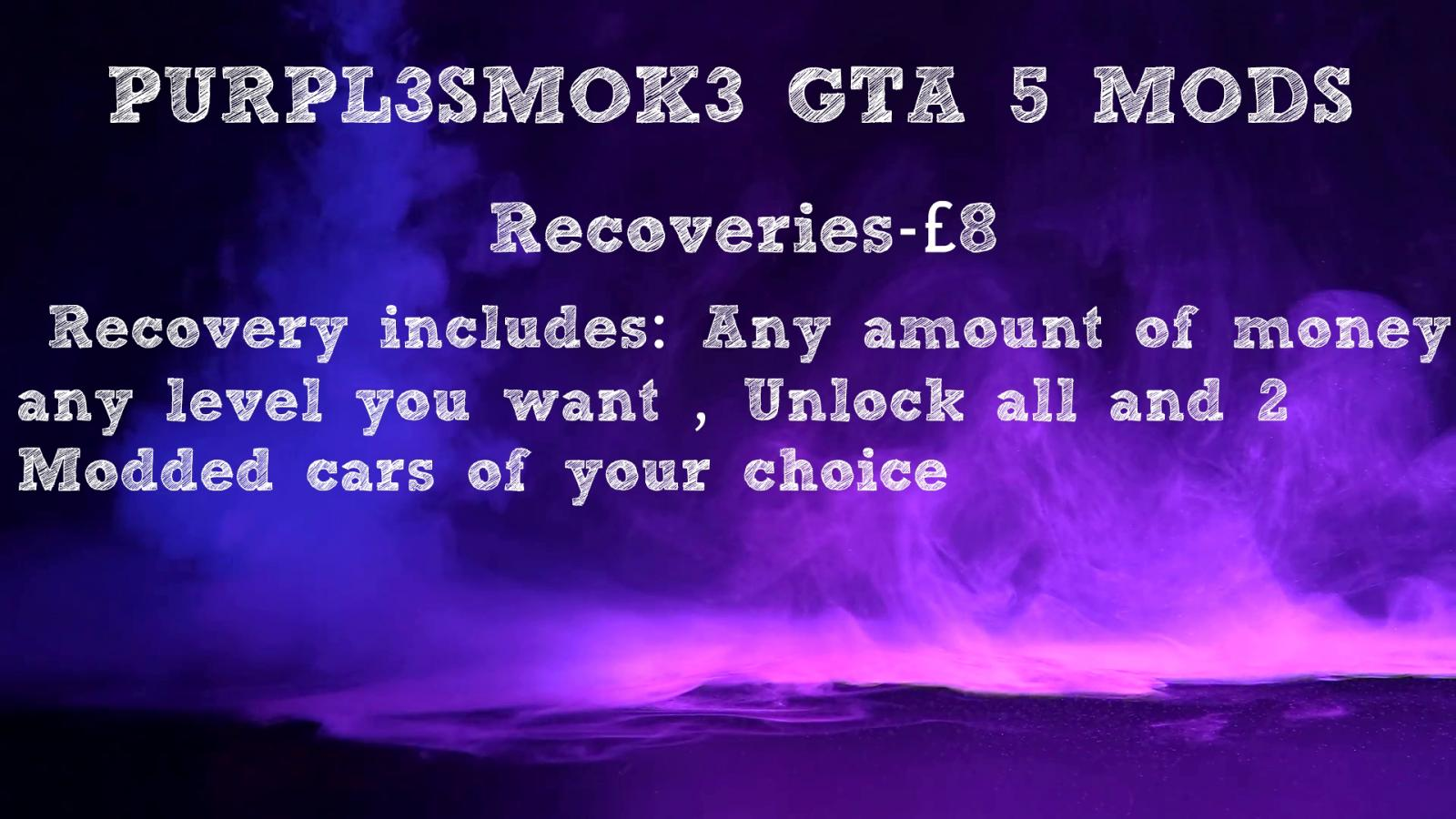 Photo of GTA V Recoveries/ Modded accounts