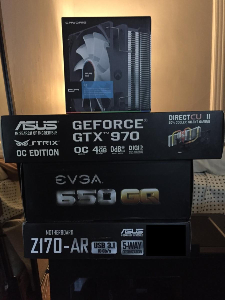 Photo of Custom PC: i5-6600k, GTX 970 OC, 32GB RAM, 960GB SSD, z170-AR, U2415 Monitor,etc