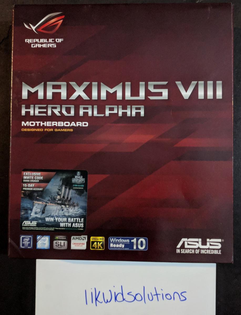Photo of Asus Maximus VIII Hero Alpha LGA1151 Skylake Motherboard