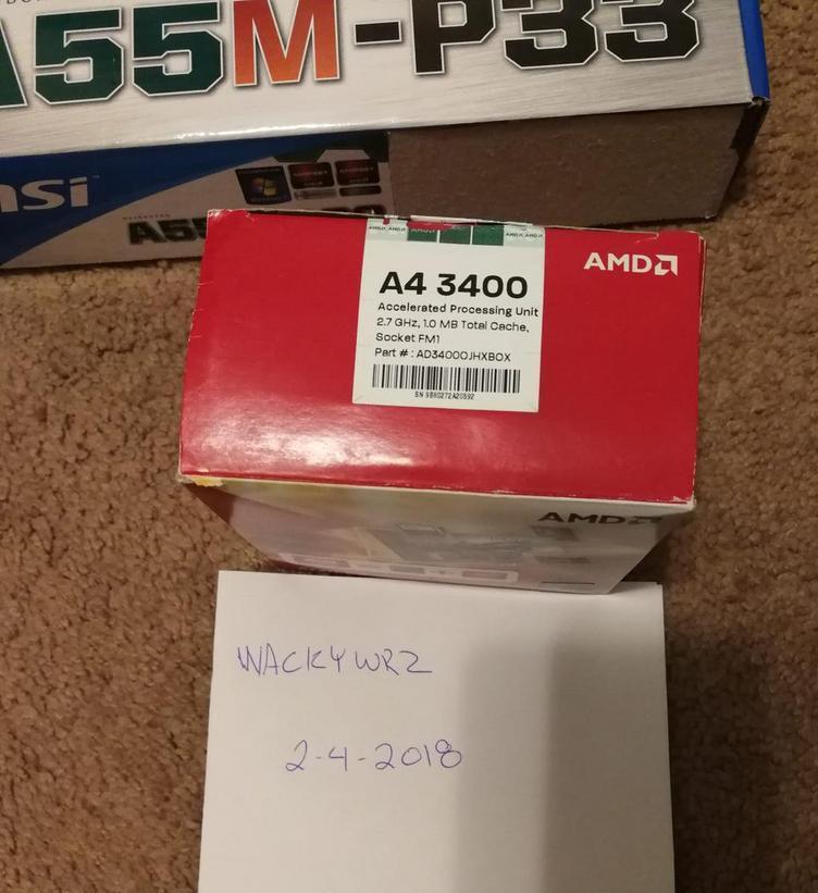 Photo of AMD A4-3400 APU + MSI A55M-P33