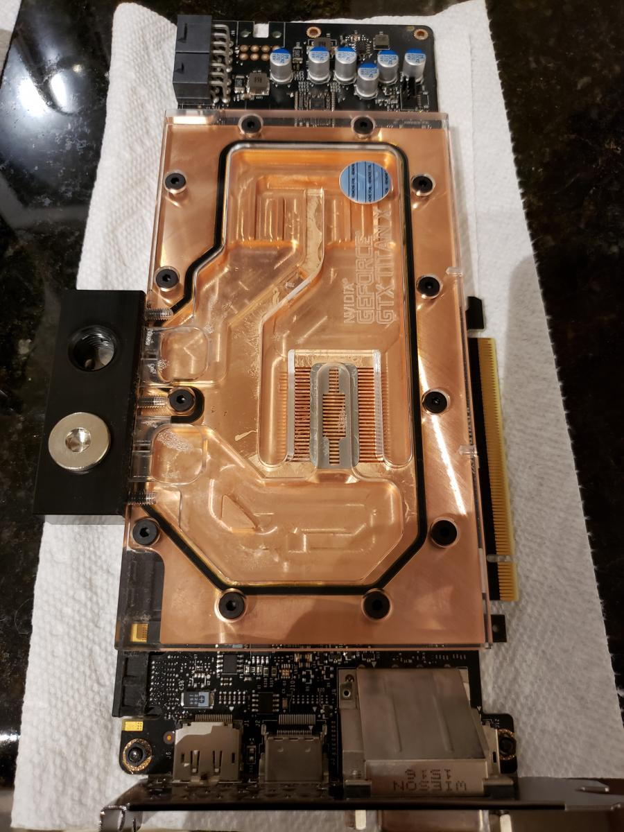 Photo of Tons of EK water Parts + Titan X Maxwell